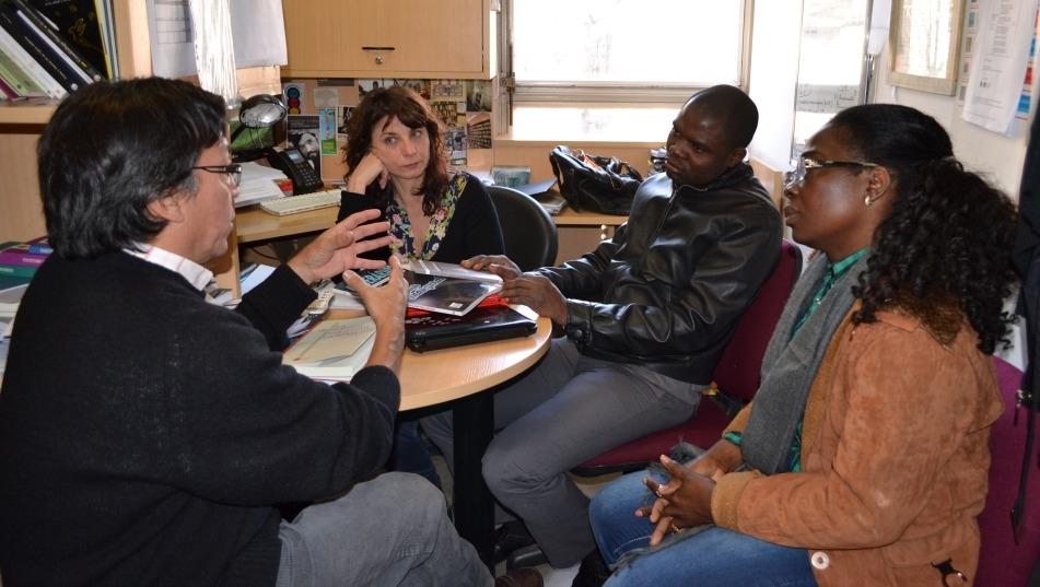 Reunión con los directores de la Editorial