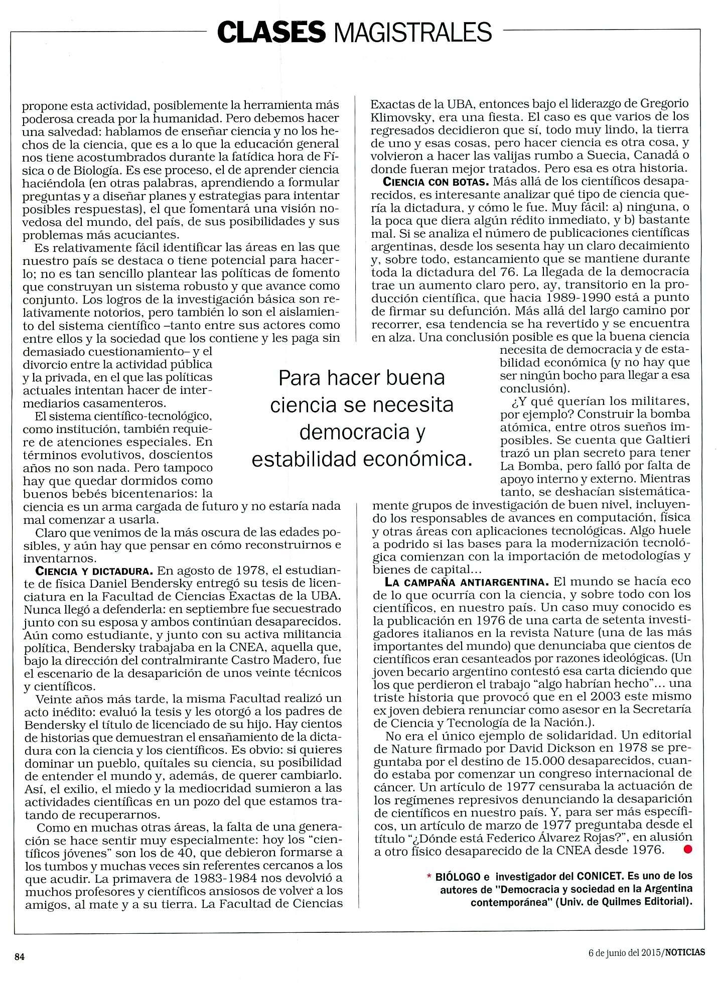 NOTICIAS, 6 DE JUN.4