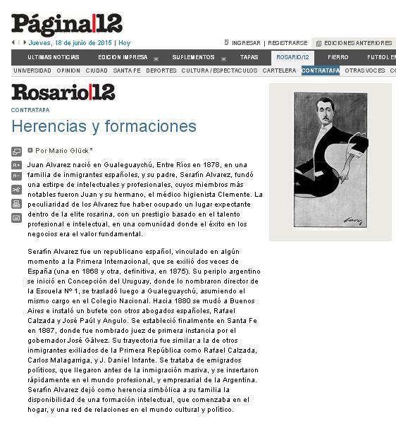 Mario gl ck en los medios rosarinos blog de la editorial for Editorial de un periodico mural