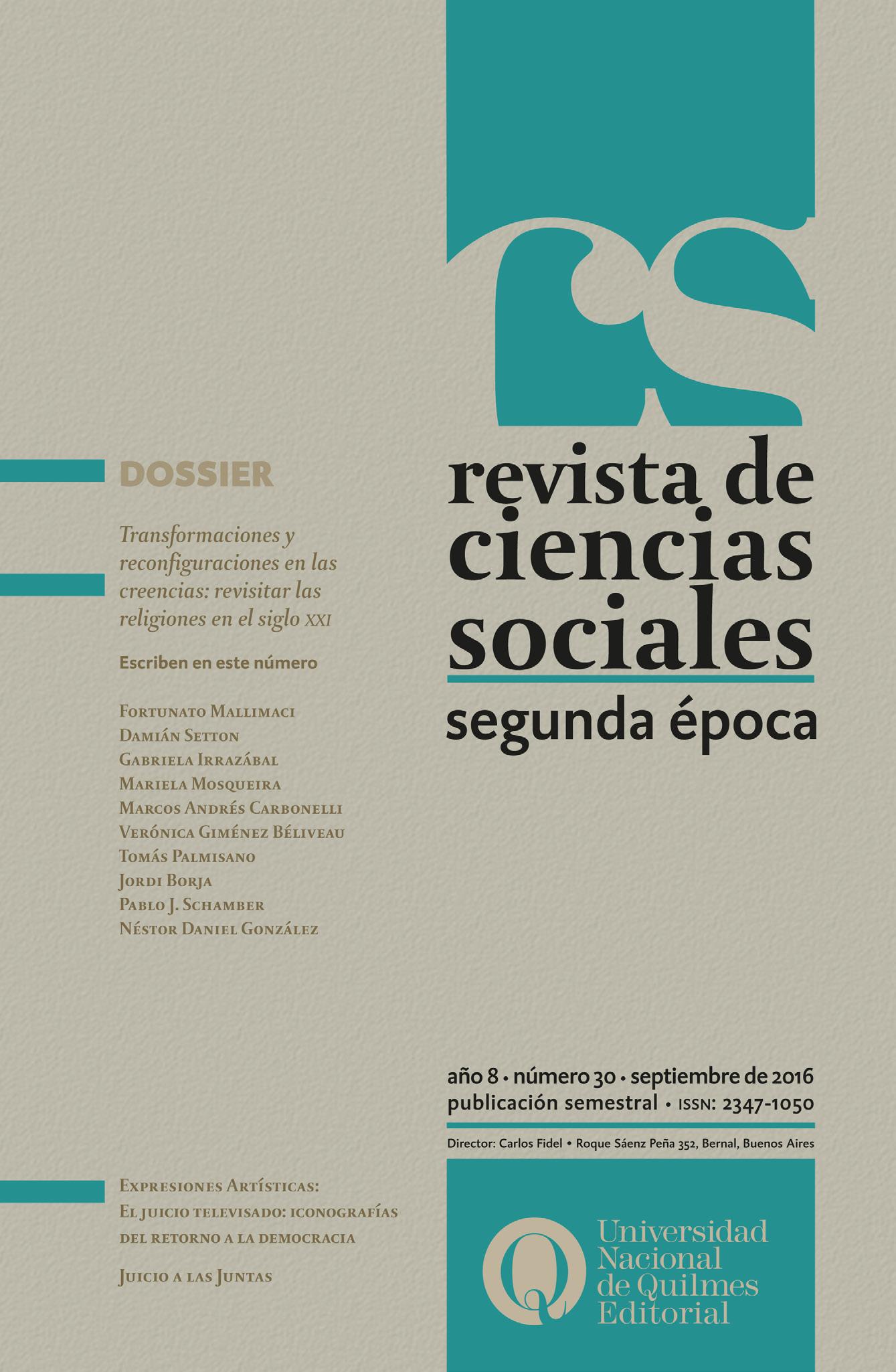 Revista de Ciencias sociales nº 30 para descarga gratuita | Blog de ...