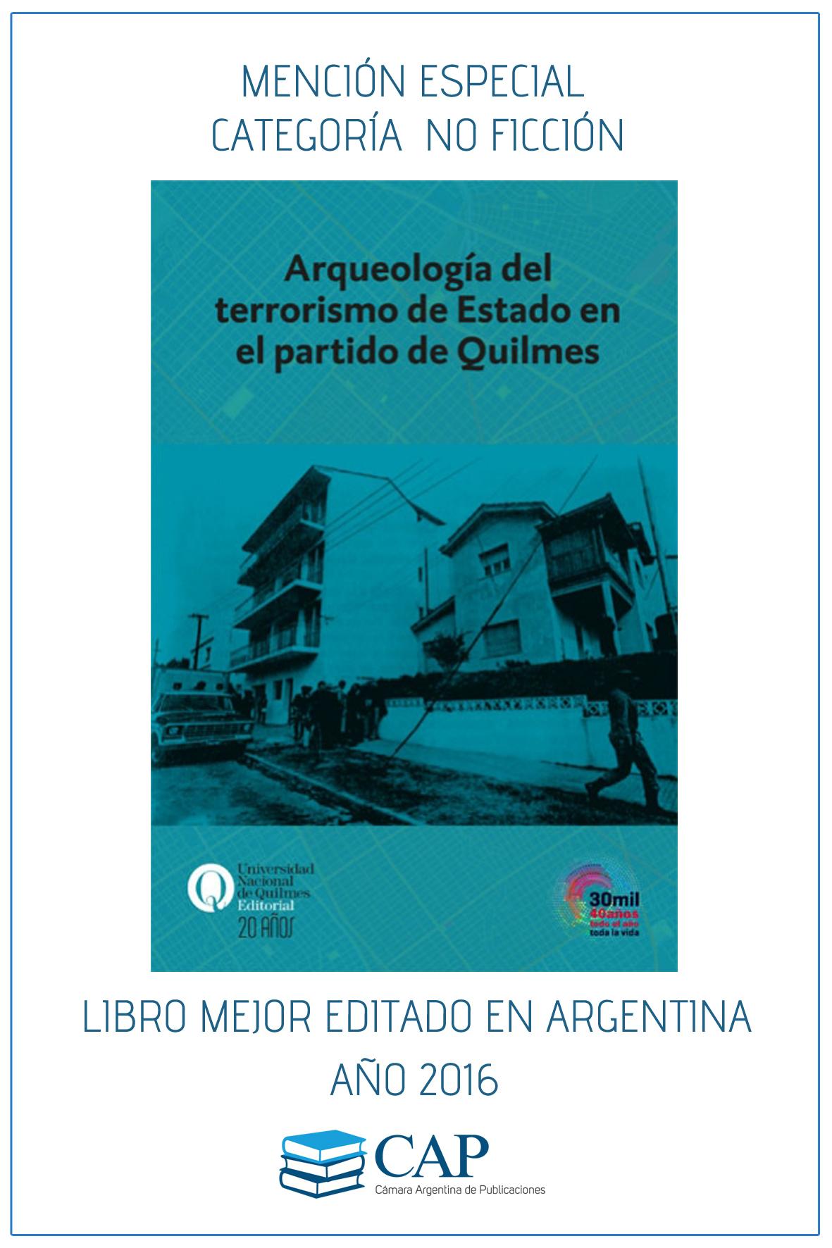 """Premian a """"Arqueología del terrorismo…"""" en el Concurso Los Libros Mejor Editados en la Argentina"""